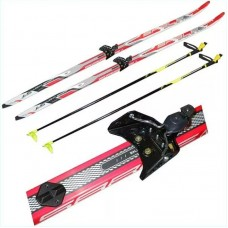 Лыжи пластиковые с креплениями 170 см
