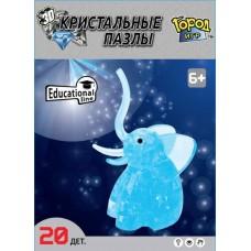 3D Crystal Puzzle Слоник M Gl-6329