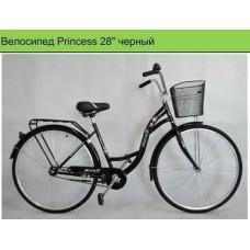 """Велосипед 28"""" Princess Retro чёрный"""