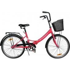 """Велосипед 24"""" Torrent Discovery складной с корзиной"""