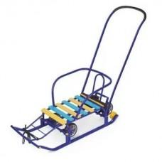 Санки Тимка 5 УНИВЕРСАЛ синий (выдвижные колеса)