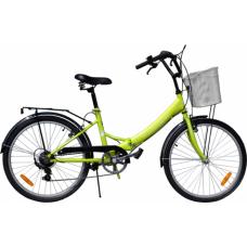 "Велосипед 24"" Torrent Discovery 7скор. складн. с корзиной"