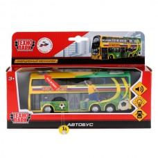 Машина металл Автобус 17см, свет+звук, открыв. двери, инерц. в русс. кор. Технопарк SB-18-28WB