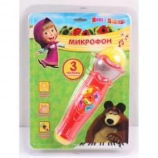 """Микрофон """"Играем вместе"""" Маша и Медведь све+звук в кор. A848-H05031-R2"""