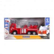 """Пожарная машина """"Технопарк"""" камаз р/у, свет+звук, брызгает водой 25 см в кор. KAM-F-RC"""
