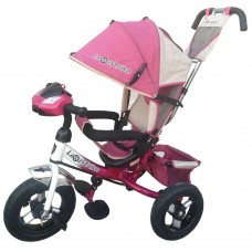 Велосипед 3-х колёсный Lexus Trike 950 TXT Pink 12/10 Air 366