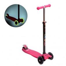 Самокат 3-х колёсный Maxi Led Pink New