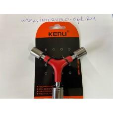 Ключ рогатка 3 в 1 11/13/14 мм KL-9734B