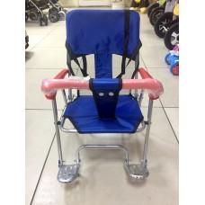 Седло на багажник (велокресло) JL-190 синее