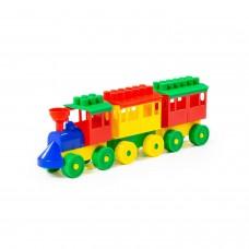 Конструктор-Паровоз с двумя вагонами 2044