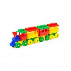 Конструктор-Паровоз с тремя вагонами 2051