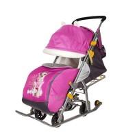 Санки-коляска Ника Детям 7-2 Dog (орхидея)