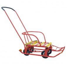 Санки Тимка 5 УНИВЕРСАЛ красный (выдвижные колеса)