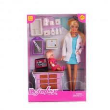 Набор из 2-х кукол (доктор и ребенок) с аксесс., в кор. 8348-DEFA