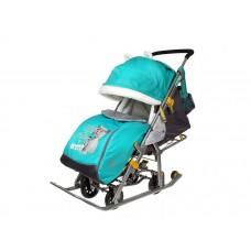 Санки-коляска Ника Детям 7-2 Kitty (изумруд)