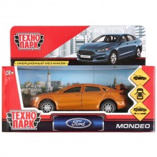 Машина металл FORD MONDEO, длина 12 см, откр дв, багаж, инерц, золотой. Технопарк MONDEO-GD