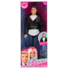 Кукла 29см Алекс со щетиной, в кожаной куртке в русс. кор. Карапуз 99187-SA-AN
