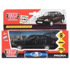 Машина металл LADA Priora хэтчбек черный 12см, открыв. двери, инерц. в кор. Технопарк SB-18-22-LP(BL)WB