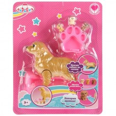 Аксессуар для кукол, рожающая собака, 3 щенка и аксесс. на блистере K108966-RU