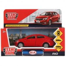 """Машина металл """"KIA RIO"""" 12см, открыв. двери, инерц, красный в кор. Технопарк RIO-RD"""