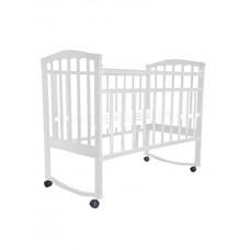 """Кровать детская """"Заюшка"""" (колесо-качалка) белый"""