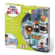 Набор для лепки из полимерной глины FIMO kids form&play Робот 8034 03 LZ