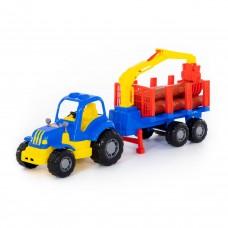 """Трактор с полуприцепом-лесовозом""""Крепыш"""" 44815"""
