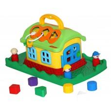 Сказочный домик на лужайке (в сеточке) 48752