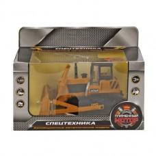 Трактор с грейдером гусеничный мет.ин. 1:48,свет, звук, откр.двери 870157
