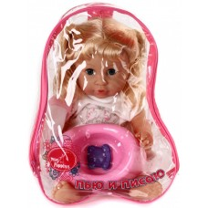 Кукла Мила 37см, в рюкзаке в акс-ми, пьет и писает 452026