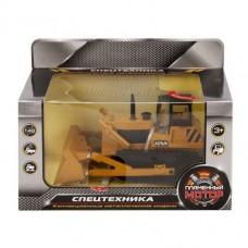 Трактор-погрузчик гусеничный мет.ин. 1:48,свет, звук, откр.двери 870158
