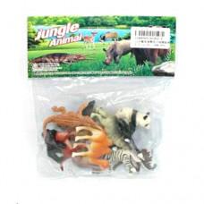 Набор диких животных Jungle animal, 4-8см, 12шт 2C262-1