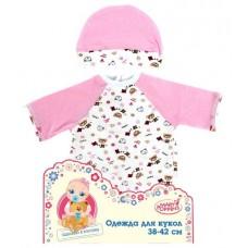 Одежда для куклы 42 см, комбинезон с шапочкой 62