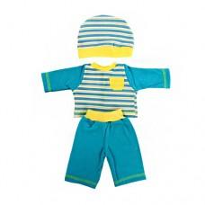 Одежда для куклы 42 см, кофточка, брючки, шапочка 55
