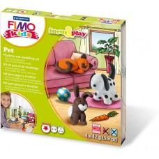Набор для лепки из полимерной глины FIMO kids form&play Домашний любимец 8034 02 LZ