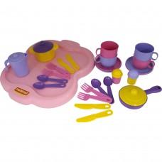 """Набор детской посуды """"Янина"""" с подносом на 4 персоны 4060"""