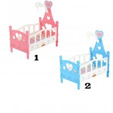 Кроватка сборная для кукол №3 (6 элементов) в пакете 62055