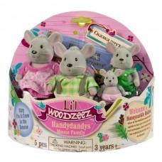 Li'l Woodzeez. Семейка Мышей (4 шт) в наборе с книжкой 6003Q