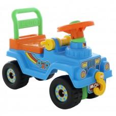 Каталка автомобиль Джип 4х4 - №2 (без звукового сигнала, голубой) 62819