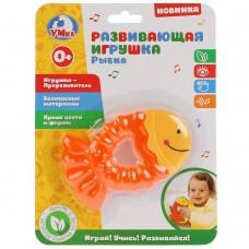 """Развивающая игрушка """"УМКА"""" - прорезыватель рыбка на карт BD903F-R"""