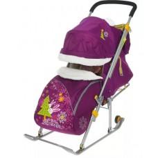 Санки-коляска Ника детям 6 (лежа тент 2 молн муфт)