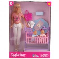 Набор из 3-х кукол (мама+2 ребенка) с аксесс, в кор. 8359-DEFA