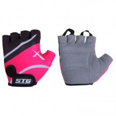 Перчатки STG  для велосипеда (кожа+лайкра)