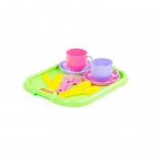 """Набор детской посуды """"Минутка"""" с подносом на 2 персоны 9516"""