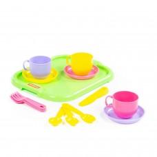 """Набор детской посуды """"Минутка"""" с подносом на 3 персоны 9523"""