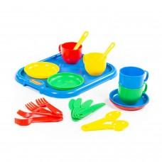 """Набор детской посуды """"Минутка"""" с подносом на 4 персоны 9530"""