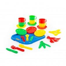 """Набор детской посуды """"Минутка"""" с подносом на 6 персон 9547"""