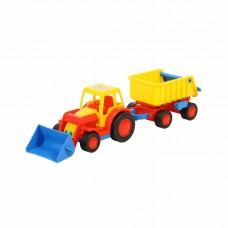 """Трактор-погрузчик с прицепом """"Базик"""" 9623"""