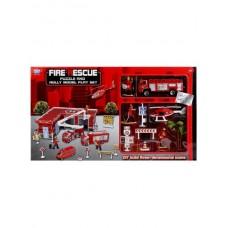 Гараж пожарная станция с машиной, вертолетом и аксесс. XZ1038T в кор. B1478998