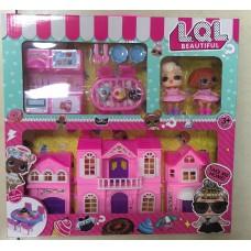 Набор кукла в шаре дом с кухней JY1891